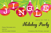 Six Jingle Ornaments Invitation