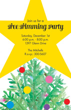 Tree Star Invitation