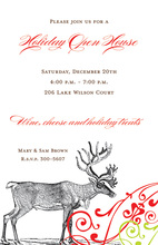 Vintage Reindeer Invitation