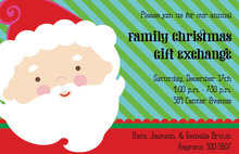 Santa Stripe Invitations