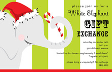 White Elephant Invitations