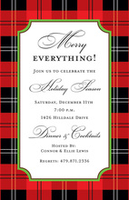 Red Black Tartan Plaid Invitations
