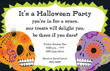 Bright Skulls Invitation