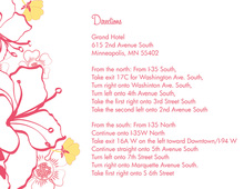 Pink Hibiscus Flowers Enclosure Cards