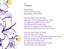 Purple Hibiscus Flowers Enclosure Cards