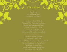 Grape Vine Pattern Lime Enclosure Cards