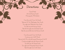 Modern Grape Vine Pink Enclosure Cards
