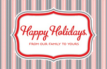 Holiday Strips Folded Greeting Cards