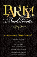 Bachelorette Party Modern Black Invitations