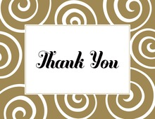 Gold Swirl Standard Thank You Cards
