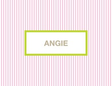 Pink Stripes Thank You Cards