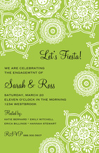 Indie Floral Green Charming Bridal Invitations