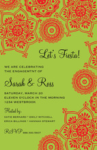 Colorful Fiesta Banners Party Shower Invitations