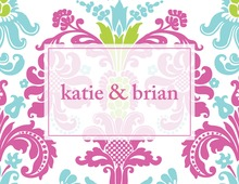 Bright Damask Thank You Cards