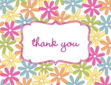 Bright Flowers Thank You Cards