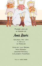 Bridesmaids Country Cowgirl Invitations