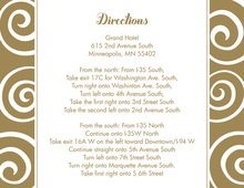 Whimsical Swirls Famous Gold Enclosure Cards