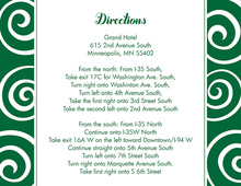 Whimsical Swirls Green Enclosure Cards