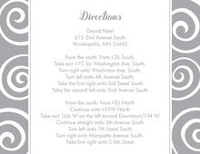 Sentimental Whimsical Swirls Grey Enclosure Cards