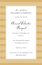 Simple Stripes Monochromatic Formal Gold Invitations