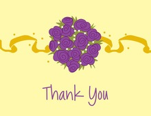 Catch The Bouquet Yellow Thank You Cards