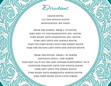 Teal Decorative Plate Enclosure Cards