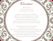 Taupe Burgundy Decorative Plate Enclosure Cards