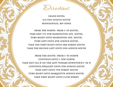 Gold Decorative Plate Enclosure Cards