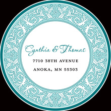 Teal Decorative Plate Stickers