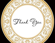 Gold Decorative Plate Thank You Cards