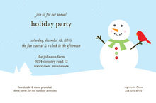 Joyful Snowman Scene Invitations