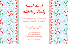 Sweet Minty Swirls Invitation