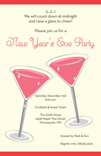 New Year's Eve Cocktails Invitation