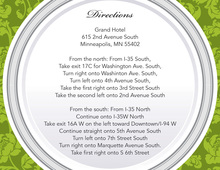 Green Elegant Rehearsal Dinner Enclosure Cards