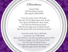 Purple Elegant Rehearsal Dinner Enclosure Cards