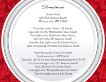 Red Elegant Rehearsal Dinner Enclosure Cards