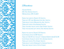 Blue Trimmed Damask Enclosure Cards