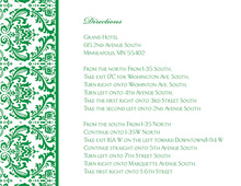 Green Trimmed Damask Enclosure Cards