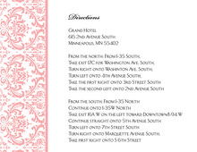 Pink Trimmed Damask Enclosure Cards