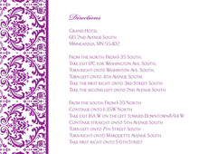 Purple Trimmed Damask Enclosure Cards