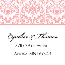 Pink Trimmed Damask Stickers