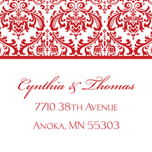 Red Trimmed Damask Stickers