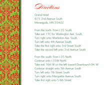 Vibrant Christmas Damask Enclosure Cards