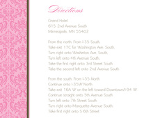 Classy Pink Damask Enclosure Cards