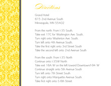 Classy Yellow Damask Enclosure Cards