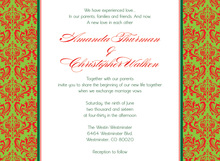Christmas Damask Flanks Invitation
