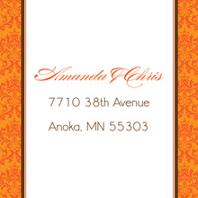 Orange Damask Flanks Stickers
