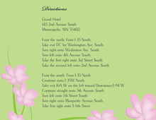 Whimsy Pink Green Plumeria Enclosure Cards