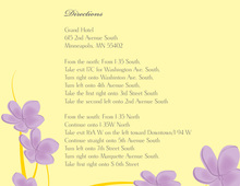 Whimsy Lavender Canary Plumeria Enclosure Cards