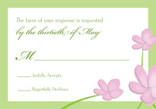 Whimsy Pink Green Plumeria RSVP Cards